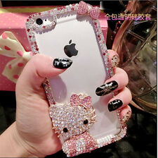 Sparkle Crystal Diamond Bling Hello Kitty  Phone Case Cover iPhone 7+,  7 PLUS