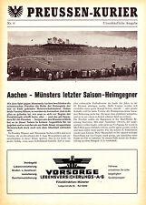 Programm   1961-1962   Preußen Münster v Alemannia Aachen   Oberliga West