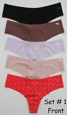 Victoria's Secret Pink No-Show Thong Panty - 5/$28.50 MULTICOLOR