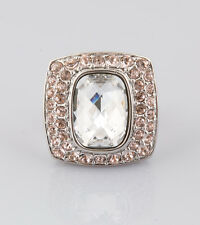 Judith Leiber Markie Swarovski Crystal Cocktail Ring size 7