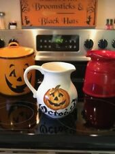 Maxcera Halloween Jack-O'Lantern October 31st Jug Pitcher New! RARE!