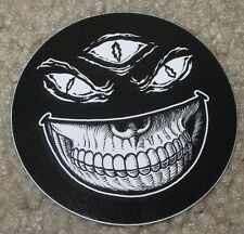 MISHKA NYC Popaganda Smiley 3 Eye Skull Skate Sticker Ron English decal