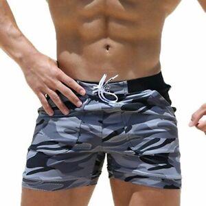 HERREN Schwimm Kurze Hosen Badeshorts Badehose Sport Jogging Training Badehose