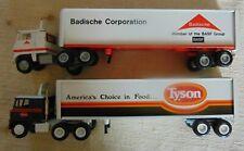 Winross -- Tyson & Dow Badische semi trucks