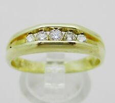 14k Or & Diamant BAGUE TAILLE S1/2. 4.1 grammes