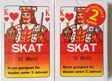 2x32-20x32 SPIELKARTEN SKAT KARTEN BLATT NORMALE KARTEN Neu und OVP.