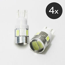 4 x T10 No Error 5630 SMD LED White Car Side Light Bulbs with Lens 501 194 168