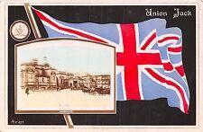 POSTCARD    MILITARY  WWI    PATRIOTIC   Royal  Bath Union  Jack     FLAG
