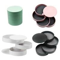4 Layer Rotating Jewelry Display Storage Box Bracelets Earring Holder Organ#RY