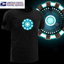 LED T-shirt Iron Man Arc Reactor Tony Stark The Avengers Thor Hulk T-shirt USA