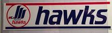 1980's Moncton Hawks Team Logo Bumper Sticker / Decal AHL