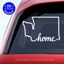 "Washington State ""Home"" (on bottom) Decal - WA Home Car Vinyl Sticker add heart"
