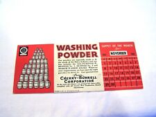 Blotter for washing powder, c. 1942, vintage advertising ephemera 1940s