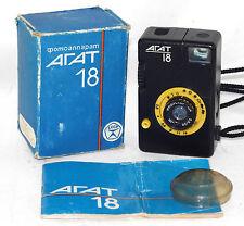 AGAT 18 Russian 35mm camera USSR Half Frame 72pic 18 x 24 Be LOMO Good Cond BOX