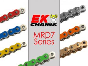 EK MRD7-520 MX MOTORCYCLE CHAIN 120 LINKS TENSILE STRENGTH 8900 lbs YELLOW