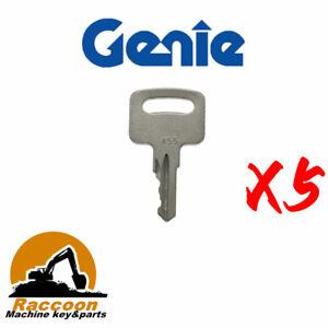 5pc 455 Key For Various Genie Vermeer Terex Snorkel Skyjack kubota Whisper Ronis