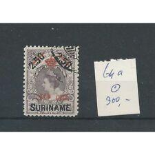 Suriname 64a Kroontjes opdruk  VFU/gebr   CV 300€  keurstempeltje