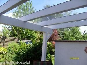 VSG Glas für Terrassenüberdachung, Carport, Pergola, 8mm 0,76 Folie Klar