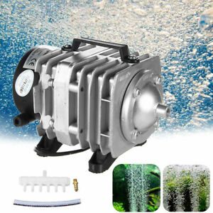 45W Electromagnetic Air Compressor Pump Oxygen Aquarium Fish Pond Compressor