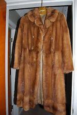 Brown Mink Double Breasted Vintage Coat Stroller Jacket Bamberger's Fur Salon