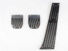 For BMW E39 BLACK CARBON MT PEDAL 3PCS E28 E34 E39 E60 E61