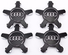 4pcs 135mm Car Wheel Center Caps for Audi A3 A4 A5 A6 A7 A8 Q5 S4 S8 Black