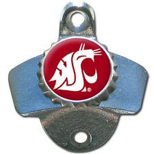 Washington State Cougars Wall Mount Bottle Opener Ncaa Licensed