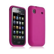 Housse etui coque en silicone pour Samsung Galaxy S i9000 couleur rose fushia