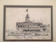 Scott Kennedy Lithograph / Print The Balboa Pavillon and Pavillon Queen