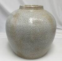 Antique Chinese Large Porcelain Crackle Ginger Jar   -  81506