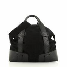 Bottega Veneta Belted Duffle Bag Canvas with Intrecciato Nappa Detail Medium