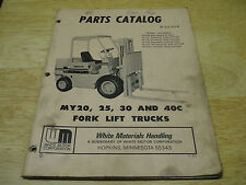 White Forklift, MY 20, 25,30 and 40C Parts Catalog/ Manual