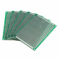 Double Side 5x7cm Printed Circuit PCB Vero Prototyping Track Strip Board 5Pcs