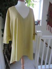 Lagenlook tunic size XL Colour Mustard Cotton New.