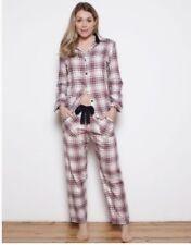 Cyberjammies Red Pandora Woven Long Sleeve Brushed Check Pyjama Set UK Size 14