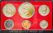 1973-S USA PROOF SET 6 COINS CHOICE UNC BU COLOR WONDERFUL GEM TONED (DR)