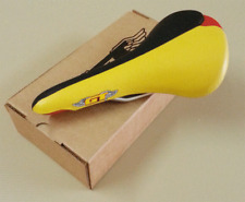 Vintage Old School GT Saddle Black-Yellow-Red Bmx haro Skyway 90s NOS Limited