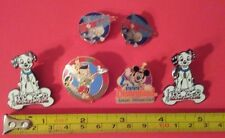 VINTAGE DISNEY PIN LOT MICKEY MOUSE DONALD DUCK PINOCHIO DALMATIANS DISNEYLAND
