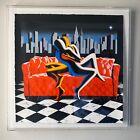 American Dream - Mark Kostabi - Signed Serigraph - NYC Skyline Cityscape