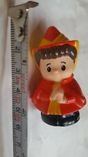 2003 Mattel Little People Female with red dress and hat • pre-owned
