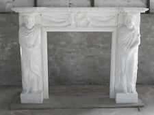 antique marble fireplace mantels. WHITE MARBLE FIREPLACE MANTEL with Grecian figures Marble Antique Fireplaces  Mantels eBay