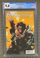 RETURN OF WOLVERINE #1 Marvel Comics 2018 Yu Variant Cover CGC 9.8
