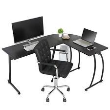 58 L Shaped Corner Computer Home Desk Pc Laptop Study Table Workstation