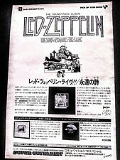 Led Zeppelin The Song. Remains The Same 1976 Vintage Japan Promo Ad