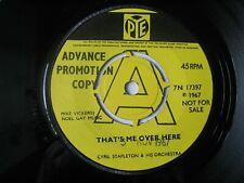 "Cyril Stapleton - That's Me Over Here. Promo Demo 7"" Vinyl Single."