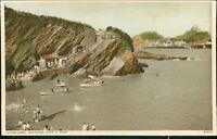 Devon - Ilfracombe, Rapparee Cove Pier Rowing Boats   Vintage Postcard  CB.959