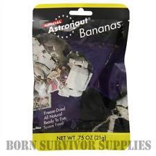 ASTRONAUT FREEZE-DRIED BANANAS - Space Food Fruit Ration Pack Snack Gadget NASA