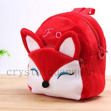 Red Mini Kid Girl Children Baby Animal Cotton Backpack Zoo Fox School Bag