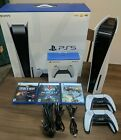 SONY PLAYSTATION 5 PS5 DISC BLU RAY CONSOLE BUNDLE