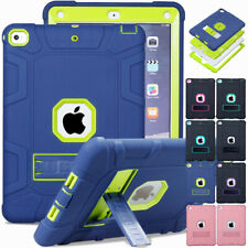 For Apple iPad Mini 1 2 3 4 5 Rugged Hybrid Silicone Armor Case Stand Slim Cover